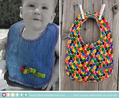 Very Hungry Caterpillar Baby Bib  Upcycle by SimplyEverydayMe