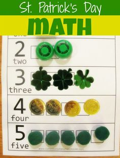 St. Patrick's Day Preschool Counting Activity