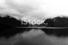 Cloudy Day on Lake Rotoiti, Nelson Lakes National Park, NZ Royalty Free Stock Photo
