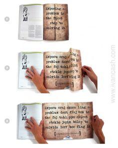Creative magazine ad. Print ad. Magazine insert.