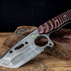 Court Marshal Custom Damascus Fixed Blade Tactical Knife