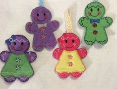 Christmas Decorations..iced colourful gingerbread people  £10.00