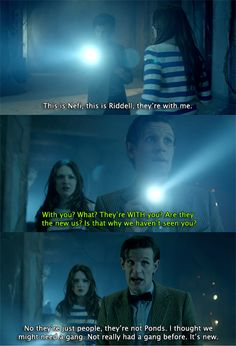 """No they're just people, they're not Ponds!"" Classic Eleven :) - Doctor Who"