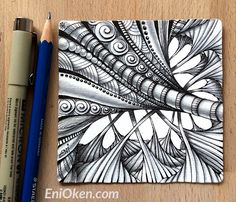 April 29, 2016 Featured Ruutz! Learn how to shade Zentangle® with Eni Oken • enioken.com