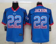1a98b20a5 Men s NFL Buffalo Bills  22 Fred Jackson Drift Fashion Blue Elite Jersey