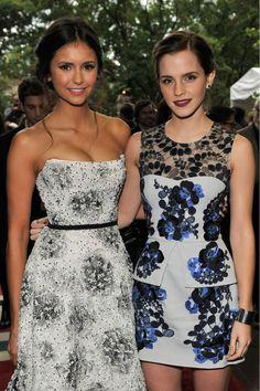 Nina Dobrev and Emma Watson , my fashion role models