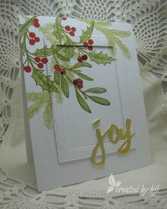 We're getting close to the holidays and that's our theme for this month – also we want to thank all of wonderful sponsors from this past year. So my card today uses some of …