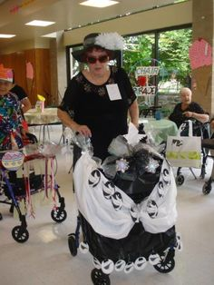 This Senior Chose a Black-and-White Theme for Her Wheelchair