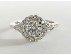1 Carat Diamond Halo #Diamond #Engagement Ring.