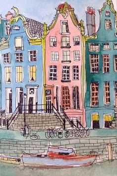 dessin amsterdam rose - Tribulations de Marie
