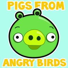 Step 400X400 green pig  How to Draw Green Pig from Angry Birds Game in with Easy Step by Step Drawing Tutorial