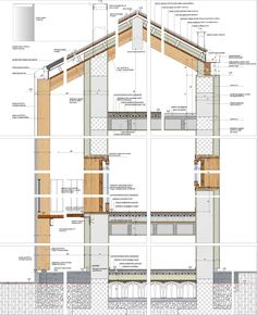Since 1998 the Web Atlas of Contemporary Architecture Detail Architecture, Revit Architecture, Japanese Architecture, Concept Architecture, School Architecture, Contemporary Architecture, Roof Detail, Architectural Section, Wooden House