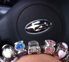 Hubbies WRX ( blue )and my subie (pink) <3 diamonds to keep them with me always:)!
