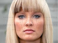 facial element proportions.  [Perfect proportions?  Just a single solution.  Look closely at the relation BETWEEN FEATURES.  Between eyes, nose, mouth corners, the bridge between the eyes.  Hard points do not move.  (such as eye corners) soft points do (such as mouth corners) .]