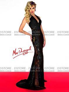 Vestido de Festa Longo Halter com Renda Rosalyn 42898R - D Store USA - $2182,68