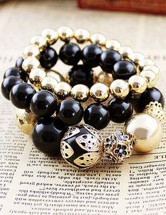Vintage Vogue Graceful Bead Stretch Bracelet