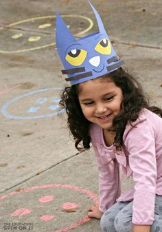Pete the Cat Themed Movement Activity for Kids.  A fun way to get moving inspired by reading books with kids.