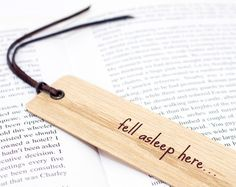 Wooden Bookmark Unique Bookmark Book Lover Gift Gift by Flexiwood