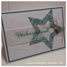 Stampin Up Weihnac… Stampin Up Christmas at home – cards crazy Christmas Card Crafts, Stampin Up Christmas, Holiday Cards, Quilling Christmas, Karten Diy, Itunes Gift Cards, Star Cards, Winter Cards, Christmas Challenge