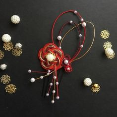 Japan Design, Craft Work, Flower Crafts, Happy New Year, Arts And Crafts, Wreaths, Drop Earrings, Flowers, Wedding