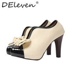 Romantic Women Soft Leather Sweet Bowtie Slip on High heels Shoes Woman Round Toe Dress. Gender: WomenItem Type: PumpsPump Type: BasicLining Material: PUStyle: FashionBrand Name: DEleventhUpper Material: PUFit: Fits true to size, take your normal sizeClosure Type: Slip-OnPlatform Height: 0-3cmHeel Height: Super High (8cm-up)Fashion Element: Butterfly-knotInsole Material: RubberModel Number: DEleven shoesWith Platforms: Yesis_handmade: YesHeel Type: Spike HeelsToe Shape: Round ToeOutsole…