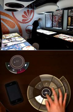 More Interactive Restaurant Tables: Clint Rule's Cafe Tabletop and Inamo's E-Table - Core77