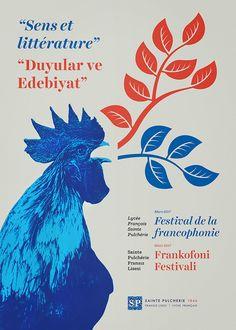 """Poster for Saint Pulcherie """"Festival de la francophonie"""""""