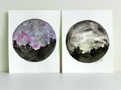 Cloudy or starry — take your pick! Elise Engh shows us how to paint ethereal night skies in watercolor here. Check more at https://www.craftsy.com/blog/2016/10/how-to-paint-a-night-sky/