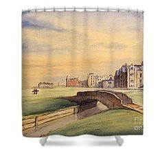 Saint Andrews Golf Course Scotland - Hole Shower Curtain by Bill Holkham Famous Golf Courses, Public Golf Courses, Countries Around The World, Around The Worlds, St Andrews Golf, Coeur D Alene Resort, Augusta Golf, Golf Course Reviews, Putting Tips
