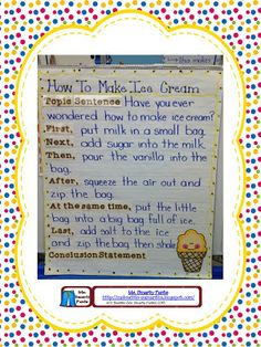 How to make ice cream writing great anchor chart for making ice writing idea very organized and teacher friendly ccuart Choice Image