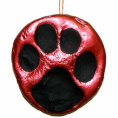 Get the kids and dogs together to make these cute paw print ornaments. It's easy with ultra light weight air dry clay!
