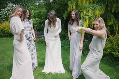 Mis-match Bridesmaid Dresses - Andrew Brannan Photography | PapaKåta Sperry Tent | Prior Park College in Bath
