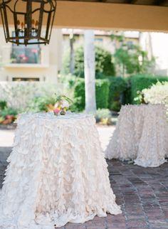 Fancy tablecloths: http://www.stylemepretty.com/little-black-book-blog/2015/01/28/romantic-naples-garden-wedding/   Photography: Justin DeMutiis - http://justindemutiisphotography.com/