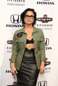 Demi Lovato is loving her black-rimmed glasses and wearing them as much as possible, and we can't get enough.