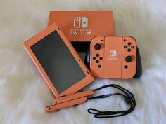 Coral Orange New Switch Skin New Skins over full coverage and include the joycon straps Nintendo Switch Accessories, Nintendo Ds, Nintendo Consoles, Super Nintendo, Nintendo Switch Case, Gamer News, Apple Watch Wallpaper, Gaming Room Setup, Electronics Gadgets