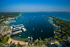 Aerial View of Harbor Springs, MI