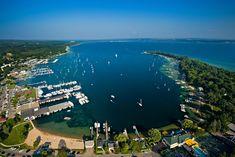 Aerial View of Harbor Springs, MI