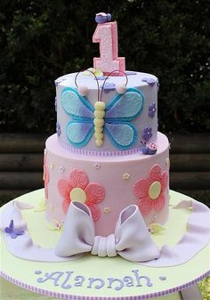Butterfly flower cake idea