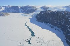 A tongue of the Greenland Ice Sheet tumbles to the sea in East Greenland near Kulusuk.