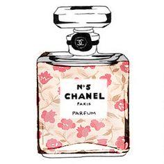 Chanel N*5 in Floral art print