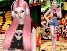 Base game compatible city nights headphones at jenni sims The Sims 4 Packs, Sims 4 Cc Furniture, Gaming Headphones, Sims Resource, Sims 4 Custom Content, Kids Outfits, Princess Zelda, Female, Games