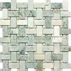 DEKO Tile Tumbled Ming Green Basketweave Mosaic Tile SKU: MO121MnGr/T Only: $8.98/Sq. Ft. Available at DEKO Tile - High-quality flooring and wall covering products at affordable prices