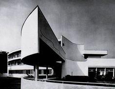 by Hans Scharoun, Wrocław/Breslau, 1929 Hans Scharoun, Harlem Renaissance, Gothic Architecture, Interior Architecture, Art Deco Home, Building Art, Built Environment, Brutalist, Park Hotel