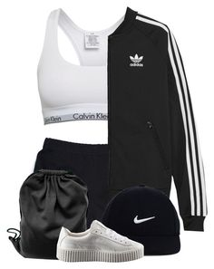 """SIMPLE : chill."" by peachyjoon ❤ liked on Polyvore featuring Calvin Klein, adidas Originals, NIKE and Puma"