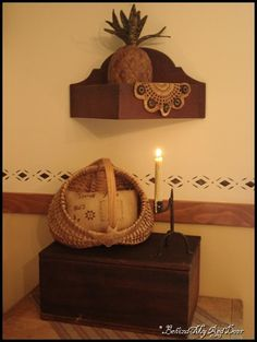 nice decorating with basket...