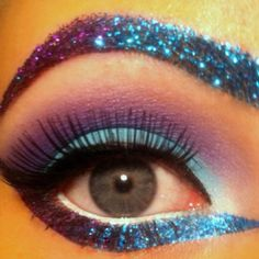 glitter eye. i like the iea of bringing the brow and eye together. very unique. love it!:D