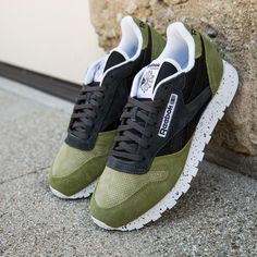 """8a984f88b03 ... on Instagram  """"Reebok men s CL Leather SM warm in olive and black  gravel   70  is now available online at BAITME.com. U.S. Men s sizes 8  through 13.…"""""""