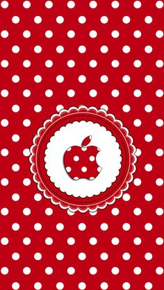 Red with White Polka Dots Apple Wallpaper Scrapbook Background, Polka Dot Background, Background Patterns, Print Wallpaper, Cool Wallpaper, Pattern Wallpaper, Apple Logo Wallpaper Iphone, Cellphone Wallpaper, Backgrounds Wallpapers
