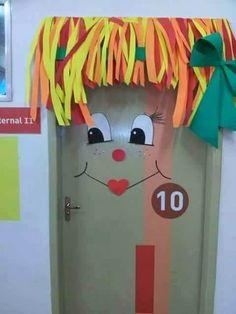 decoração porta de sala de aula tema de folclore - Pesquisa Google