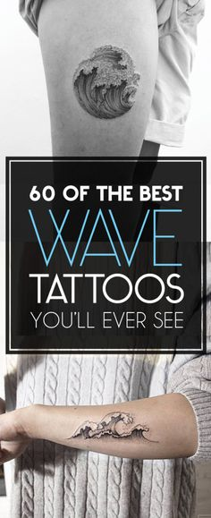 60 of The Best Wave Tattoo Designs | TattooBlend